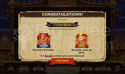 Lucha Mania Free Spins Features